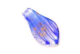 Glasschmuck aus Muranoglas - blau - Tropfen Form