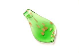 Glasschmuck im Murano-Stil - grün - Anhänger Tropfen Form