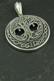Großer Baum des Lebens, Wikinger Halsketten Schmuck aus Edelstahl