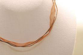 Halsband aus Organza -  braun ca. 45cm