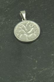 Kleiner Lebensbaum Halsketten Anhänger aus Edelstahl