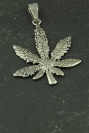 Marihuana Blatt Anhänger aus Edelstahl