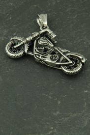 Motorrad 3D, Biker Halsketten Schmuck aus Edelstahl
