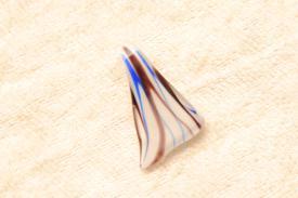 Murano Glas Anhänger klein - Farbe weiss blau schwarz