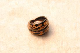 Muranoglas Ring schwarz/gold