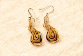 Ohrhänger aus Muranoglas - braun - Helix Anhänger