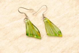 Ohrhänger aus Muranoglas - grün -