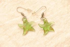 Ohrhänger im Murano-Stil - grün - Seestern Anhänger
