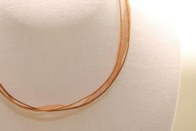 Organza Halsband - Halskette in hellbraun ca. 45cm