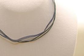 Organza Halsband, Halskette in dunkelblau ca. 45cm