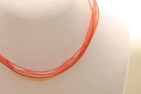 Organza Halsband, Halskette in rot ca. 45cm