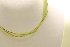 Organza-Halsband in grün ca. 45cm