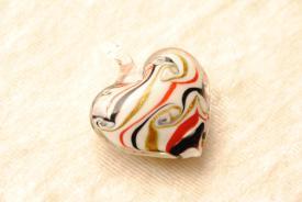 Schmuck Anhänger aus Muranoglas - rot - Herzform
