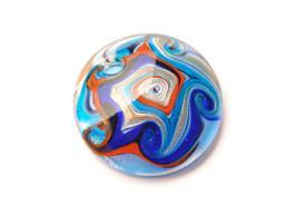 Schmuck aus Muranoglas - blau - Anhänger rund