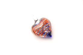 Schmuck aus Muranoglas - blau - Herz Anhänger