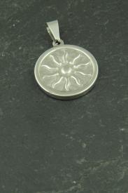 Sonnen Medallion, Halsketten Anhänger aus Edelstahl