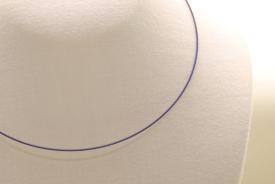 Stahl Halsband - Halsreif in blau ca. 45cm
