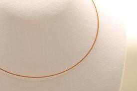 Stahl Halsband - Halsreif in braun ca. 45cm