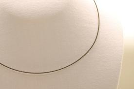 Stahl Halsband - Halsreif in schwarz ca. 45cm