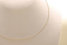 Stahl Halsband - Halsreif in silber ca. 45cm