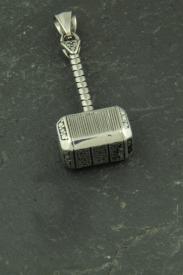Thors Hammer im Avenger / Rächer Stil, Wikinger Kettenanhänger aus Edelstahl